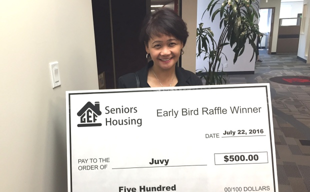 Juvy Santos Early Bird Prize Winner