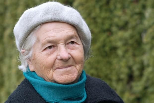 a happy elderly person.